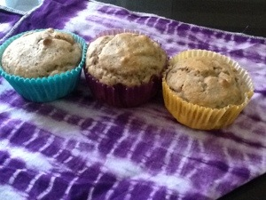 Saturday morning muffins. Three cheers for 'add water' mixes!