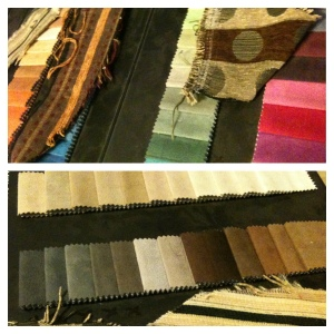Picking out fabric for new couches. A favorite part of my job!
