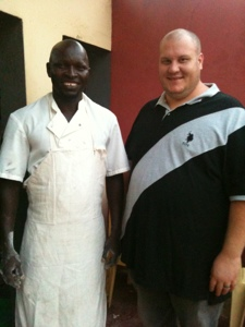 Shawn and Babacar, a friend in Cap Skirring.
