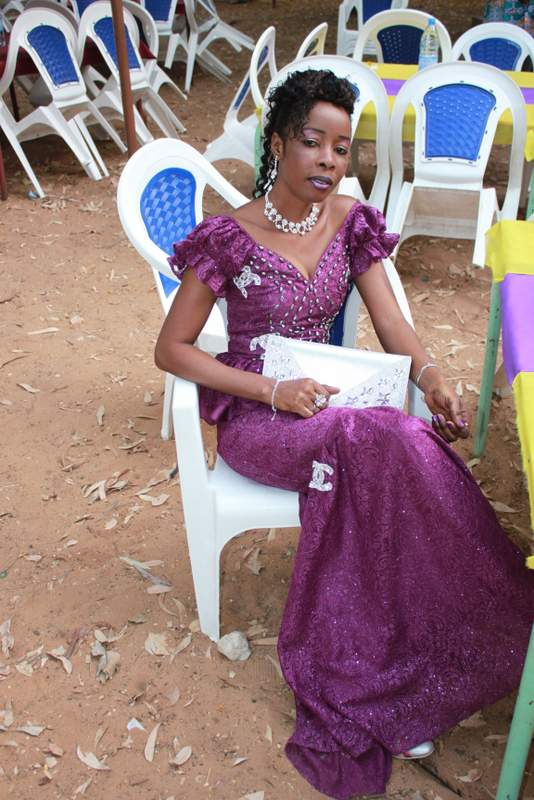 You can never be too overdressed for a wedding in Senegal. (Doesn't she look great?!)