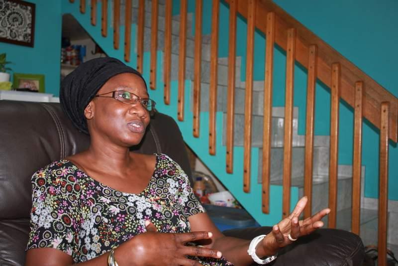 Cécile explaining her prayer request.