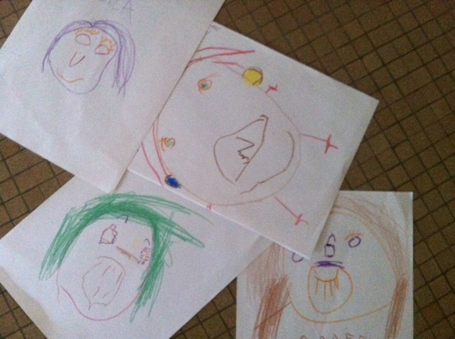 The chilis drew self-portraits and I wanted to die from cuteness overload.