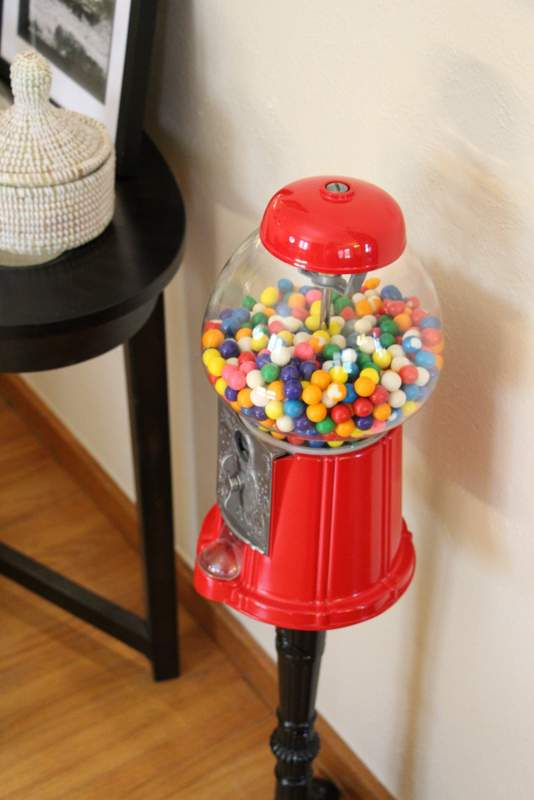 I am so happy to be reunited with my gumball machine. #kidsloveme