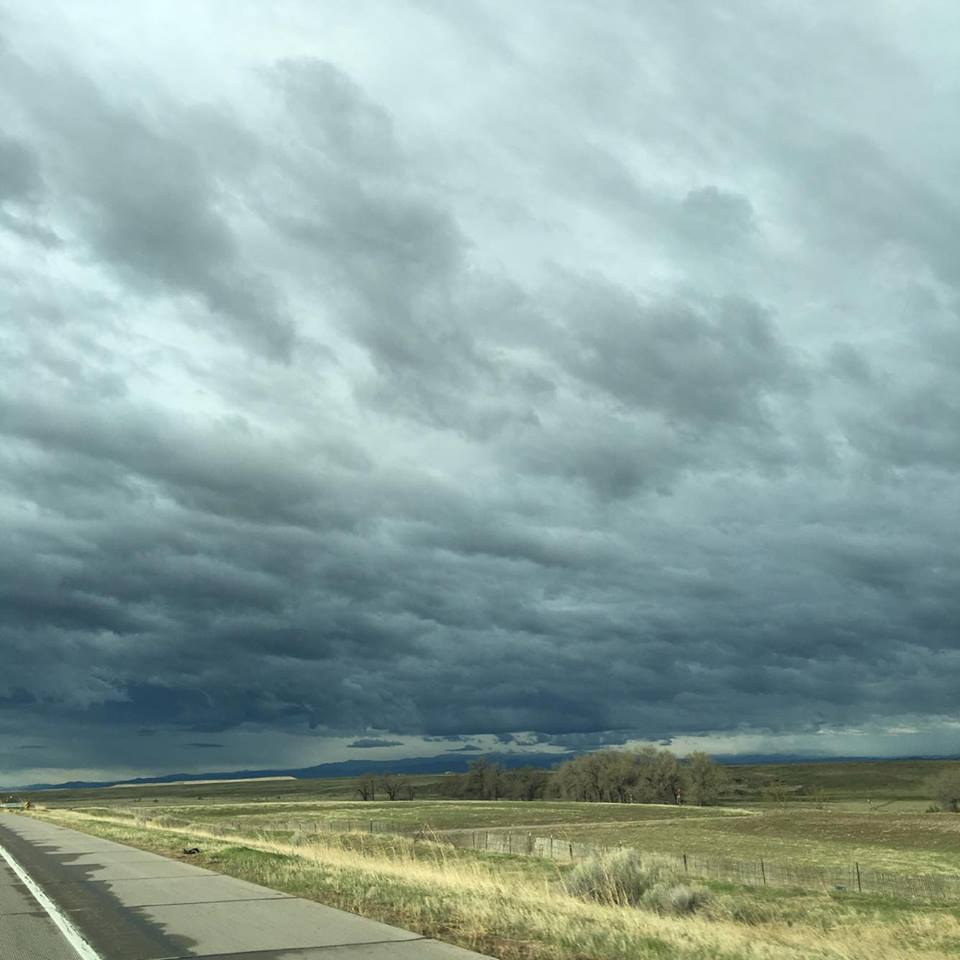 Crazy skies as we drove to Denver for our first appointment the other day.